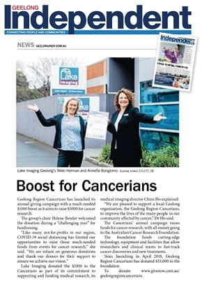A snapshot of our story in the Geelong Independent on 24 July 2020