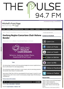 Mitchell's Front Page interview with Helene Bender OAM on The Pulse 94.7FM