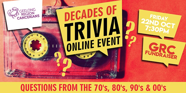 Decades of Trivia Online Fundraising Event